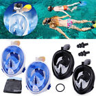 Anti-Fog Waterproof Swimming Goggles Diving Snorkel Mask For GoPro Camera S~XL