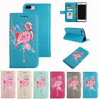 Flamingo Pattern PU Leather Wallet Flip Case Cover for iPhone X 7 8 5 6 S Plus