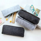 Round Square Felt Gray Makeup Cosmetic Bag Brush Pen Pencil Case Pouch Box New
