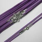 "18"" (46cm) Lavender Soft Suede Cord Necklace with 925 Sterling Silver Clasp"