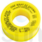 Gas PTFE Tape Seal Fitting Sealing Pipe Threads 12mm x 5mtr Gas Approved Yellow