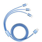 For iPhone Sumsung Type-C 3 in 1 Multiple Braided USB Charger Cable Cord Lot