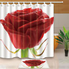 Valentine's Day Roses With Dew Bathroom Decor Fabric Shower Curtain Set 71Inch