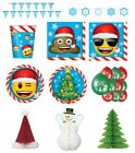 CHRISTMAS XMAS EMOJI PARTY RANGE - Plates/Cups/Napkins/Tablecovers//Balloons