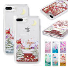 Dynamic Liquid Glitter Quicksand Case Cover For iPhone X 8 7 6S 6 Plus Xmas Tree