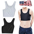 Lesbian Tomboy Casual Breathable Buckle Short Chest Breast Binder Body Shaper US