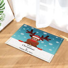 Rudolph Deer With Snowflakes Bathroom Fabric Shower Curtain Set With Hooks 71 In
