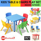 Childrens Table Chairs Stackable Kids Plastic Furniture Play Outdoor 1 3 5pc Set