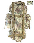Army Military Rucksack Hiking Camping Bag Combat Cadet Backpack Travel 60L BTP