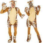 Tiger Costume Man Woman Halloween Fancy Dress Outfit Carnival Jungle Lion Animal