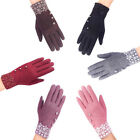 2017 Fashion Winter Lady Touch Screen Gloves Outdoor Sports Gloves Nap Gloves