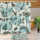 Provence Style Dragonflies And Butterflies Fabric Heap Curtain Bathroom 71In