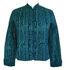 Anokhi Emerald Green & Blue Quilted Jacket, 100% Cotton