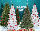 5/6/7/8 FT Artificial PVC Christmas Tree W/Stand Holiday Season White/Green
