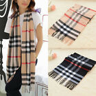 Womens Lady Warm Checked Plaid Scarf Tartan Wrap Neck Shawl Stole Pashmina 180cm