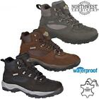 Mens NORTHWEST Leather Walking Hiking Waterproof Ankle Boots Trainers Shoes Size