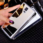 Ultra Thin Mirror Back Cover TPU Soft Silicone Case For Samsung Galaxy s6 Note 4