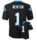 NWT 60$ Boys Carolina Panthers Cam Newton NFL Jersey Black T-shirt *LARGE 14/16 $17.49 USD on eBay