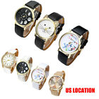 Fashion Womens' PU Leather Band Wrist Analog Quartz Watch Charm Jewerly Watch