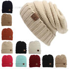 BRAND NEW COLORS CC BEANIE TWO TONE WOMEN CABLE KNIT SUPER CUTE BEANIE UNISEX US