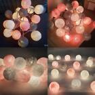 20 Cotton Ball String Fairy Nacht Lichter Kind Kinder Schlafzimmer LED TXSP