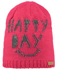 Barts Beanie Ski Cap Winter Hat Pink Baxter Coarse Knit Fleece Ghost