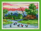 Joy Sunday Counted Cross Stitch Kit - Fishing 18x14 in 14/11CT Fabric Embroidery