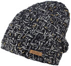 Barts Beanie Winter Hat Headpiece BLAU Essence Coarse Knit Fleece