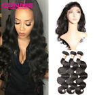 Brazilian Body Wave Remy Virgin Human Hair Bundles With 360 Lace Frontal Closure