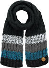 Barts Scarf Winter Scarf Knit Scarf Black Wilhelm Stripes Warming