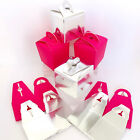 10x GIFT BOXES FUCHSIA PINK or SILVER. 6.5 x 6.5cm. WEDDING FAVORS, PARTY PACKS