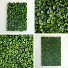 4 pcs Green Boxwood Leaves Wall Backdrop Panels Wedding Party Decorations SALE