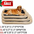 Pet Dog Cat Bed Cushion Mat Pad Kennel Crate Cozy Warm Soft House L-XXL SK