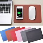 Desktop Qi Wireless Charging Mouse Pad Mat Charger For iPhone X 8 8+ Samsung S8