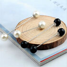Practical Charm Double Pearl Stick Pin Scarf Safety Pin Brooch Sweater