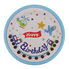 10pcs Happy Birthday Disposable Paper Beverage Cups Cake Plates Party Tableware