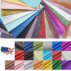 "4 pcs A4 size - 8.2"" x 47"" Glitter sheets PU Faux leather Fabric For Crafts"