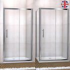 Sliding Shower Enclosure Cubicle And Tray & Waste Door + Side Panel Safety Glass