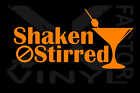 James Bond 007 Shaken not stirred martini vinyl decal FREEfastSHIP - 12 colors! $5.95 USD on eBay