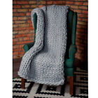 New Handmade Chunky Knitted Blanket Wool Thick Line Yarn Merino Throw Home Decor image
