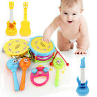 5pcs Kids Baby Roll Drum Musical Instruments Band Kit Children Toy Gift Set US