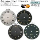 DIAL FOR MOVEMENT ETA 2824-2 or SW 200, Ø 28.5MM, different colors 285.25-27