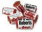 Personalised Mini Love Heart Sweets for Weddings favours, Red Foils - V0