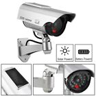 2X 4X DUMMY SECURITY CAMERA SOLAR FAKE CCTV CAMERA RED LED POWER LIGHTS STICKER