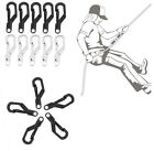 5Pcs Mini EDC Outdoor Carabiner Snap Spring Clips Hook Survival Keychain Tool