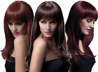 Ladies Professional Grade Natural Long Wavy Feathered w/ Fringe Fancy Dress Wig