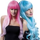 Ladies Professional Quality Bright Long Curl Feathered w/ Fringe Fancy Dress Wig