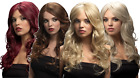 Ladies Professional Quality Natural Long Wavy Curly Side Part Fancy Dress Wig