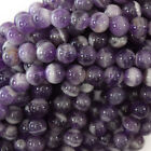"Purple Dog tooth Amethyst Round Beads 15.5"" Strand 6mm 8mm 10mm 12mm 14mm 16mm"