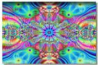 Poster Psychedelic Trippy Colorful Ttrippy Surreal Abstract Digital Art Print 38
